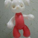 Кукла игрушка Ссср Собака 2 пес полиэтилен 45 см на резинках
