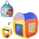 Палатка M 1441 для детей , 86-86-105см, 2вх-на липуч, 2окна-сетка, в сумке,38-38-5см