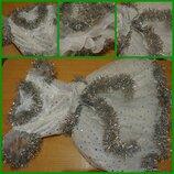 Новогоднее платье - карнавальный костюм Снежинка 5-6 лет новорічний новорісна сукня сніжинка