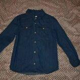 Джинсовая рубашка F&F 7-8 лет рост 122-128 Англия