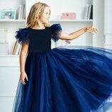 Нарядное платье фатиновое пышное платье в пол на деврочку