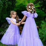 Шикарное детское платье фатиновое платье на девочку очень пышное праздничное платье на выпускной
