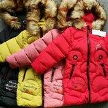 Распродажа Зимний пуховик для девочек на рост от 116 до 134 см
