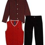 костюм 3ка рубашка штаны жилетка Izod на мальчика 5 лет