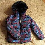 Зимняя куртка для мальчика на флисовой подкладке