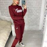 Флис Женский спортивный костюм Puma на флисе Размер - 42-44, 44-46, 46-48 Ткань - трехнить флис
