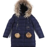 Зимняя куртка - пальто для девочек Kiko 4901 134-164 размер
