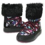 Сапоги зимние снегоходы Крокс Crocs Women´s LodgePoint Graphic Lace W Snow Boot