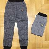 Утепленные спотивные штаны для мальчиков, р.134-164