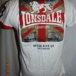 Стильная фирменная тениска поло футболка Lonsdale. xs-s.12-15 лет .