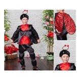 Новогодний костюм Божья коровка для мальчика, на 4-6 лет.