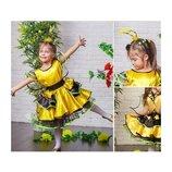Новогодний костюм Пчелка Пчела 3-6 лет для девочки, на р. 104-122.