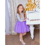 Платье для девочки Нарядное пышное блестящее праздничное платье на девочку