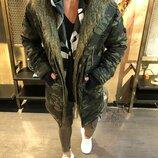 Хит сезона. Топ качество. Стильная мужская куртка парка зимняя OPEN камуфляж o-115