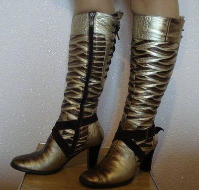Кожаные сапоги на цигейке Antares