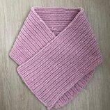Велюровый шарф ручной работы цвета пыльной розы