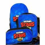 Рюкзак, сумка, пенал и брелок Brawl stars Бравл старс