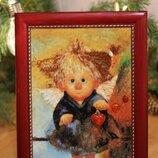 Картина с янтаря Ангел
