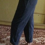 Плотные полосатые штаны отл сост пояс на резинке, карманы эль
