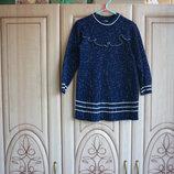 продам тёпленькое трикотажное платье юбка плиссе