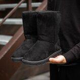 Зимние ботинки Уггі Лайт високі чорні код. 4573