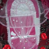 Конверт для новорожденной девочки.