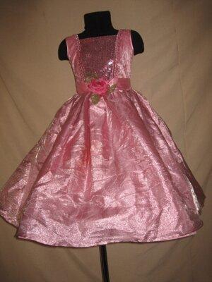 Пышное длинное платье на 3-4г