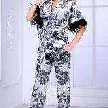 костюм бархатный POLIIT Перья страуса