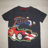 3-4 года, гламурная футболка с пайетками от F&F