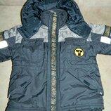 Куртка детская теплая зимняя чёрная на мальчика 4-5 лет French Toast