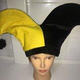 Клоун арлекин шапка колпак
