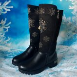 Высокие зимние сапоги для девочки, код 826