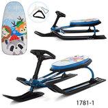 Профи MS снегокат детский с рулем Profi санки снежный скутер