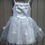Карнавальный костюм Снежинка Снегурочка для девочки 6 - 7 - 8 лет