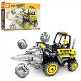 Конструктор 701200. Конструктор аналог Лего. Бурильная машина. Строительная техника.
