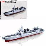 Конструктор SLUBAN M38-B0700. Конструктор аналог Лего. Военный корабль. Військовий корабель.