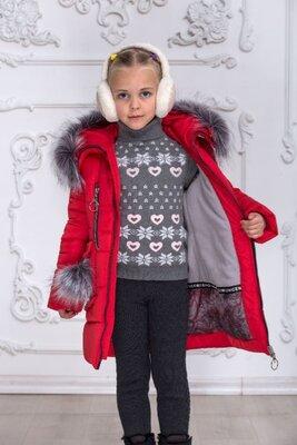 Зимняя курточка пальто для школьницы на рост 116-146 Цвета