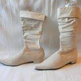 Замшевые остроносые сапоги Graceland р.38--на стельку 25 см