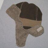 шапка-ушанка флисовая теплая на мальчика от 2 до 8 лет