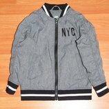 Серая куртка,курточка,бомбер,104,110, 4 года Состояние новой