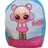 Рюкзак детский голубой, рюкзак лол, рюкзак LOL