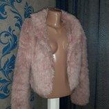 Модненькая Короткая Шубка Куртка Кофта Розовая