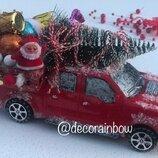 Декор новогодний, машина