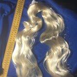 Кукла Ссср.парик для куклы.Трессы для прошивки кукольных волос.Кукла реставрация.