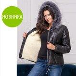 Короткая теплая куртка большого размера Olsen Размер 48,50,52,54