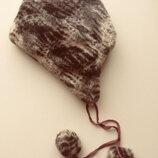 Зимняя меховая шапка на завязках с помпонами, Украина, размер 54-56