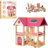 Домик 1068 Деревянный. Кукольный домик. Ляльковий будиночок. Домик для куклы Лол.