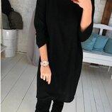 Женское свободное платье из ангоры Стефани Размер 50-52