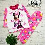 Детская тёплая махровая пижама Минни Маус