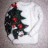 Свитшот травка джемпер свитерок елка